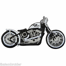 Springer Chopper Biker Rider HD Motorcycles Custom Bobber Iron-On Patches MC009