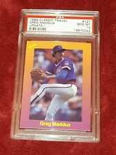 GREG MADDUX 1989 CLASSIC TRAVEL  #121 UPDATE 1 PSA 10 ☆ SUPER SHARP HOF