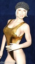 sexy Glanz Stringbody, wetlook metallic String Body, Gold glänzend, Neu, Gr. S