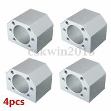 4Pcs Aluminum Ballscrew Nut Housing Mounting Bracket Holder For 1604 1605 1610