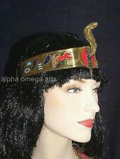 Hand Carved Egyptian Cleopatra Snake Cobra Serpent Crown Adjustable Headband