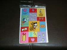 DISNEY Resort Mickey Mouse & Pluto Thank You Card & Pin Set FREE SHIPPING