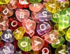 100pcs assorted heart alphabet /letter acrylic beads 12mm