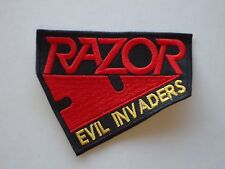 RAZOR EVIL INVADERS EMBROIDERED METAL PATCH