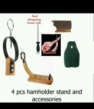 4PC CHRISTMAS SALE serrano iberian HAM holder Ring Stand Cover + Tools RRP 69.9
