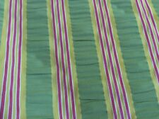 HOT PINK APPLE GREEN GOLD STRIPE UPHOLSTERY FABRIC