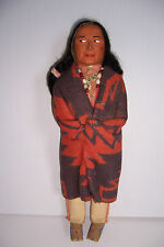 VINTAGE SKOOKUM NATIVE AMERICAN INDIAN MAN DOLL 15""