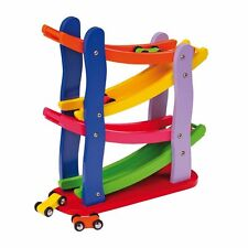 Autism Sensory Toys Wooden Racetrack Set Special Need Visual Game
