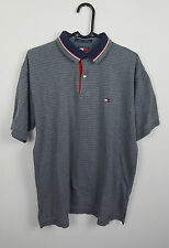 MENS TOMMY HILFIGER STRIPED VTG SHORT SLEEVE POLO SHIRT TOP VGC UK S/M