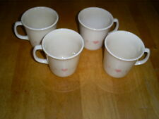 """4 Corelle Forever Yours Mugs pointed handle 4"""""""