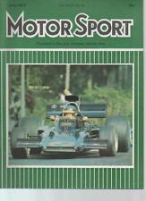 MOTOR SPORT  MAGAZINE  JUNE 1973  TARGA FLORIO   LS