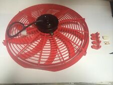 16 INCH 12v LOW PROFILE HIGH PERFORMANCE RED THERMO FAN 12volt