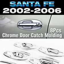 Chrome Door Catch Handle Molding Cover Garnish for HYUNDAI 2002-2005 Santa Fe SM