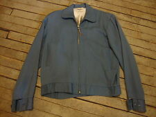 1950s  BLUE-GRAY GABARDINE SPORTSWEAR JACKET by KORET OF CALIFORNIA