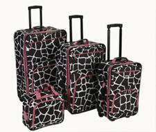 Rockland 4PC PINK GIRAFFE LUGGAGE SET F105-PINKGIRAFF F105-PINKGIRAFFE NEW