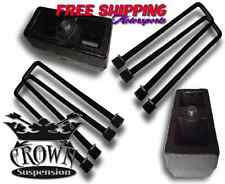 "Crown Suspension 1500HD 2500HD 3500HD 4"" REAR LIFT BLOCK KIT STEEL BLOCKS UBOLTS"