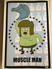Regular Show Muscle Man poster print