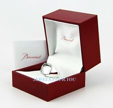 BACCARAT JEWELRY SOLID 925 STERLING SILVER MEDICIS CLEAR RING SIZE 55 -7 NEW BOX