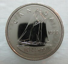 1999 CANADA 10 CENTS PROOF-LIKE COIN
