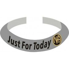 Narcotics Anonymous NA Logo Bracelet Silver Just For Today Service Symbol
