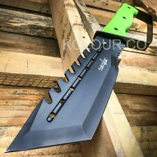 """14"""" Tactical Hunting Rambo Full Tang Fixed Blade Knife Machete Bowie Zombie"""