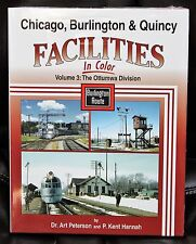 MORNING SUN BOOKS - CB&Q FACILITIES  In Color Vol 3: Otumwa Div. - HC 128 Pages