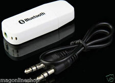 Portable USB Bluetooth Music Receiver 3.5mm Adapter Dongle For Speakers Car Mp3