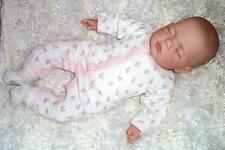 "18"" Sleeping Reborn Baby Girl Doll  + Magnetic Dummy"