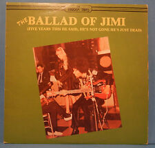 THE BALLAD OF JIMI HENDRIX VINYL LP 1981 CANADA ORIG PRESS GREAT COND! VG++!!