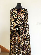 Retro Style Graphic Animal Abstract  Print Stretch Jersey Dressmaking Fabric