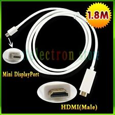 1.8m ThunderBolt Mini DisplayPort DP to HDMI Adapter Cable For Macbook Pro Air