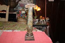 Antique Bronze Cast Metal Pillar Column Greek Roman Candlestick Holder-Gothic