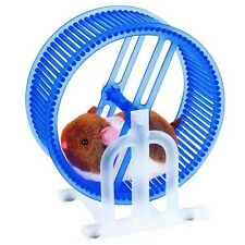 Happy Hamster Pet with  WHEEL RUNNER (Blue Wheel) Battery Operated Kid's Toy