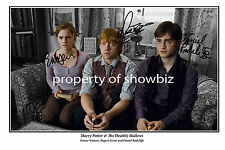 * HARRY POTTER * Deathly Hallows poster signed by cast! Great gift & memorabilia