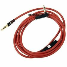 3.5mm car Aux audio connector Cable with Mic remote for ipod iphone mp3 samsung
