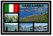 LAKE GARDA, ITALY - SOUVENIR NOVELTY FRIDGE MAGNET - SIGHTS / TOWNS - NEW / GIFT