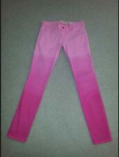 """Hollister hot pink ombre skinny leg jeans Size 1 - 25"""" Waist 28"""" inseam NICE!"""