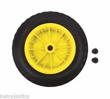 "PU 16"" PUNCTURE PROOF YELLOW WHEELBARROW WHEEL TYRE 4.80 - 8 FOAM FILLED"