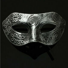 Men Burnished Antique Silver Venetian Mardi Gras Masquerade Party Ball Mask Hot