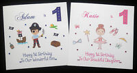 Handmade Personalised Birthday Card 1st 2nd 3rd 4th 5th 6th Ballerina Pirate