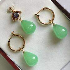 Beautiful Jade Pendant and pair of Earrings Set