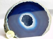 AG109 Large Agate Crystal Hollow Blue Geode Great Gift Home Art Décor 694g