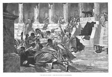 The Death of Caesar from the Picture of Rochegrosse - Antique Print 1887