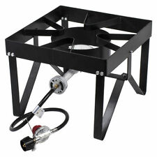 Gas Stove Propane Burner Stainless Steel Stand Outdoor Camping Cooker - New