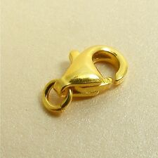 24K Gold Filled  Base 925 STERLING SILVER 8mm Lobster / Parrot CLASP Findings