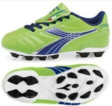 New Diadora Forza MD JR Soccer Cleats Shoes Boots Size 6 Lime Green Dark Royal