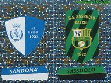 684 SCUDETTO AC.SANDONA' US.SASSUOLO ITALIA  STICKER CALCIATORI 2001 PANINI
