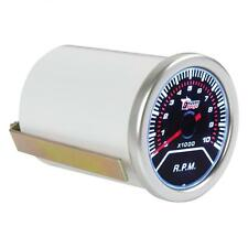 "2"" Inch 52mm 0 - 10000RPM Car Vehicle White LED Tachometer Tacho turbo Gauge 12V"