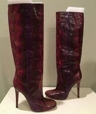JIMMY CHOO TOSCA TATOO PSYCHADELIC PYTHON KNEE HIGH BOOTS MULIT SZ 42 $2895 NEW
