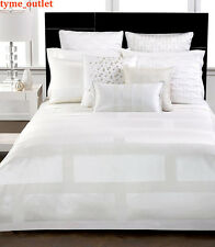 Hotel Collection Duvet Cover Frame KING White Ivory Woven Jacquard 159